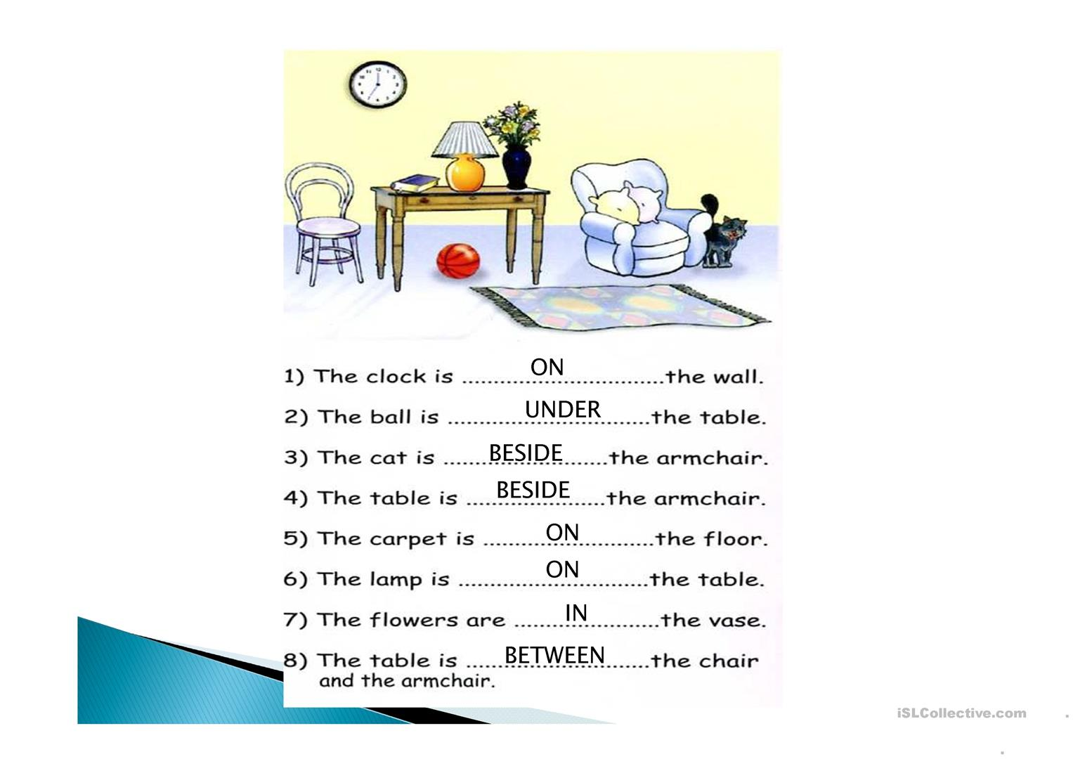 Printable Worksheet About Prepositions
