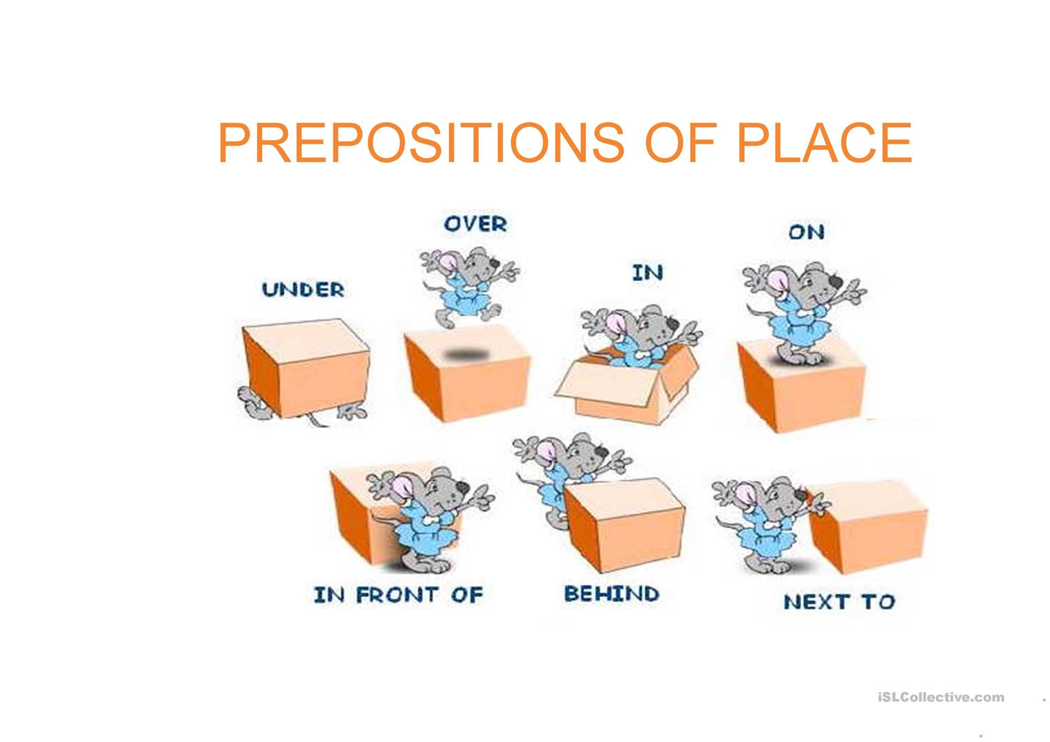 Prepositions Of Place And Movement Worksheet