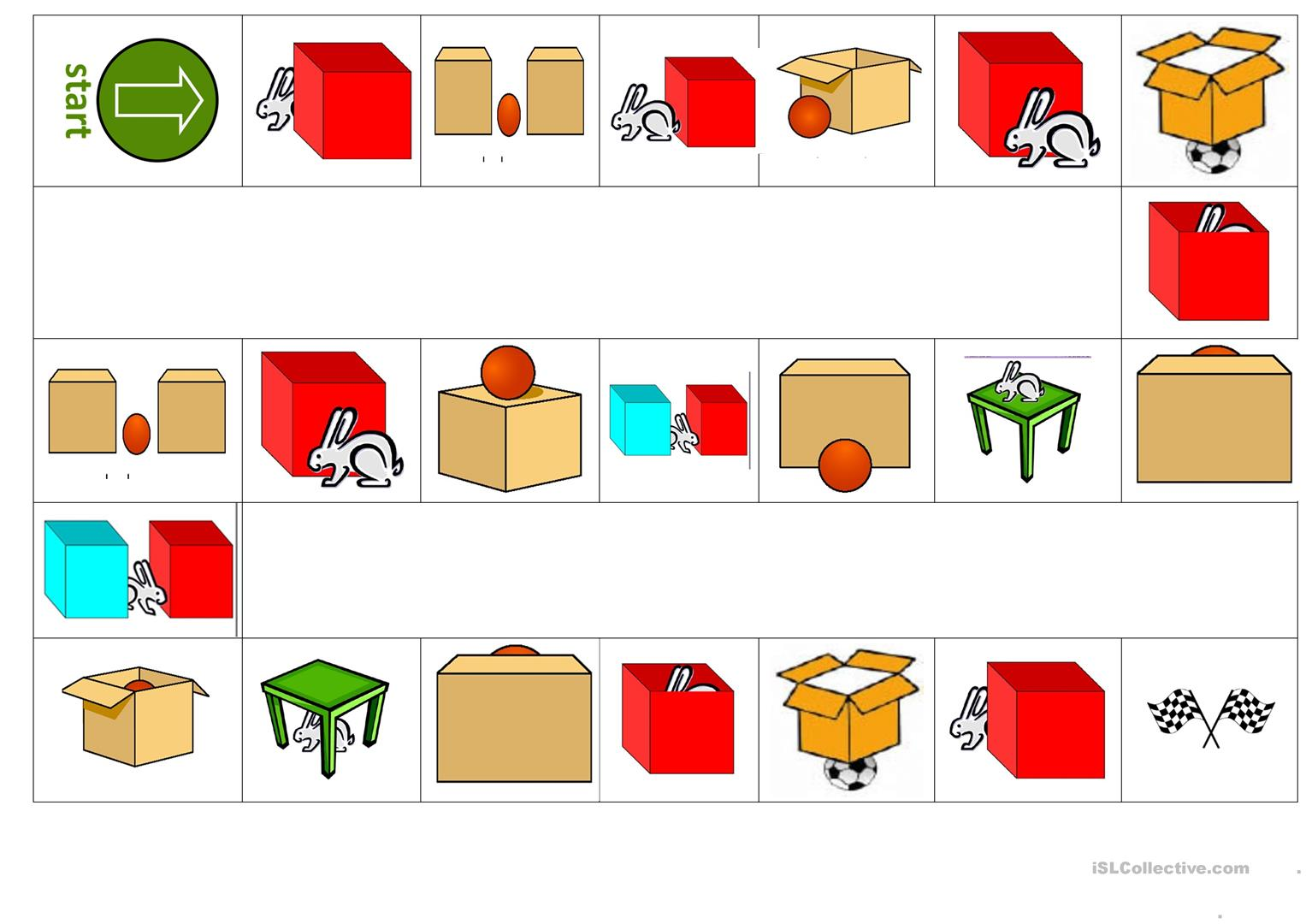 Preposition Of Place Worksheet Free