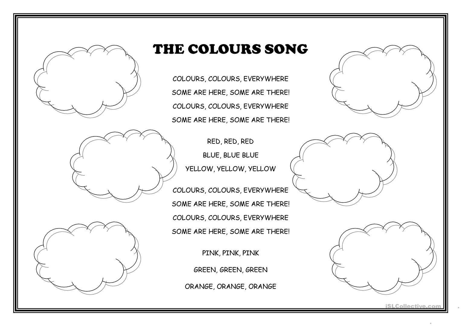 The Colours Song Worksheet