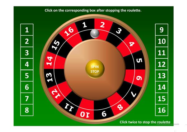 Roulette Ppt Worksheet  Free Esl Projectable Worksheets Made By Teachers
