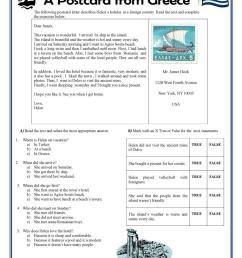 A postcard letter from Greece - English ESL Worksheets for distance  learning and physical classrooms [ 1079 x 763 Pixel ]