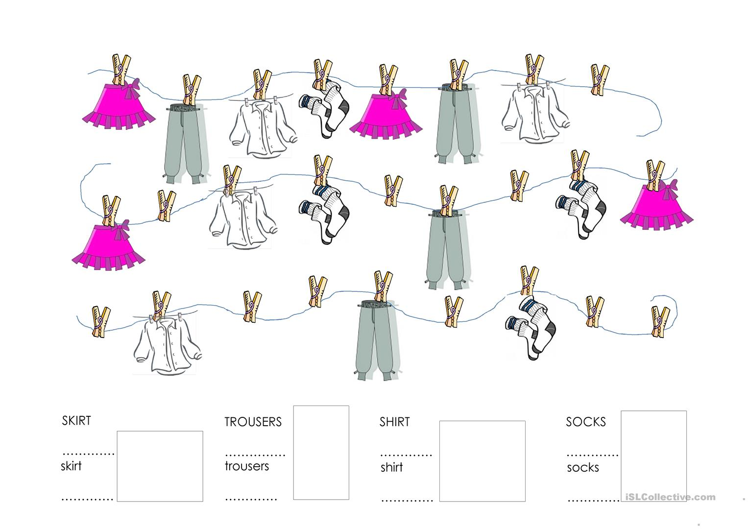 Clothes Please Worksheet