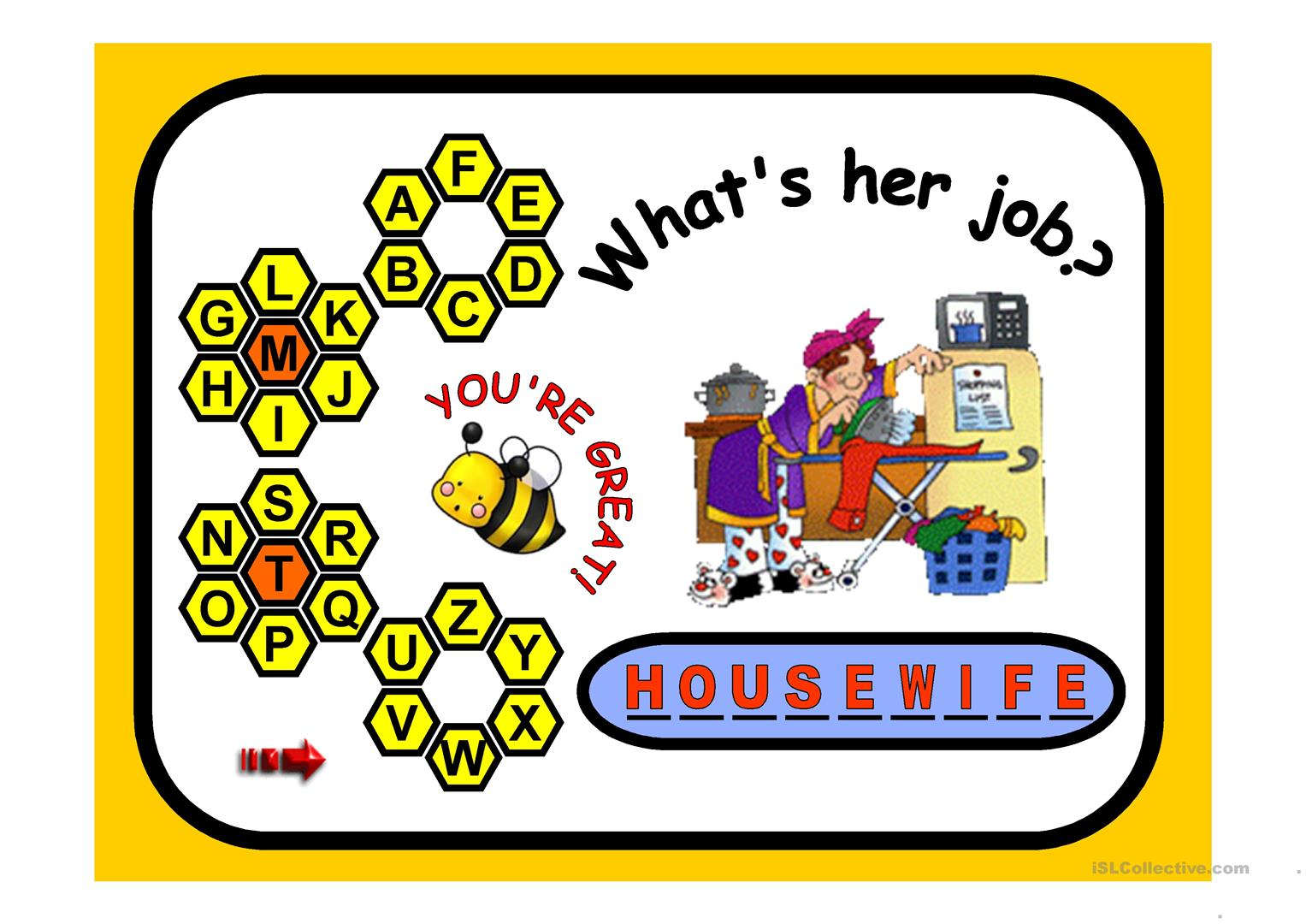 Jobs Games Worksheet