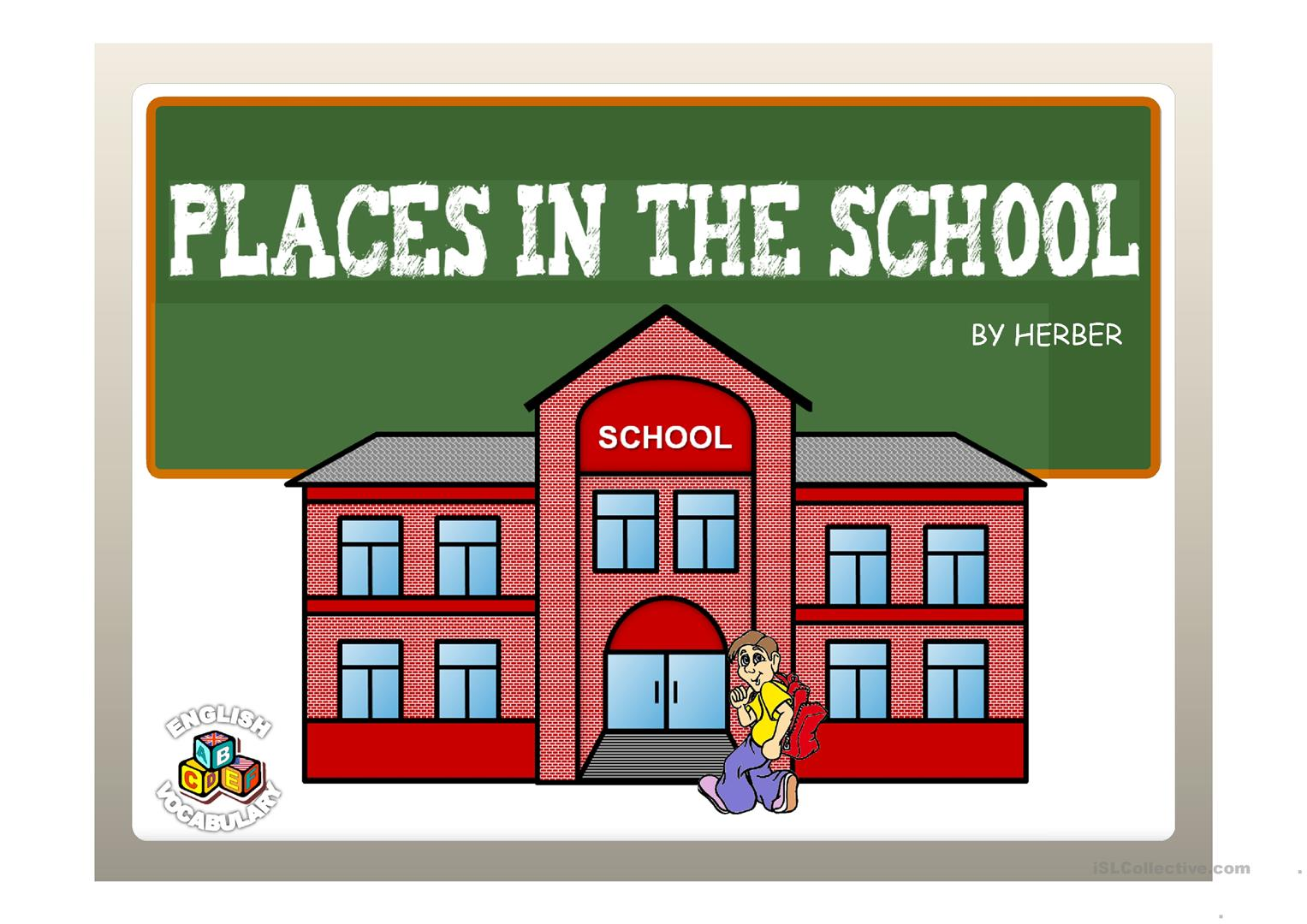 Places In The School Ppt Worksheet