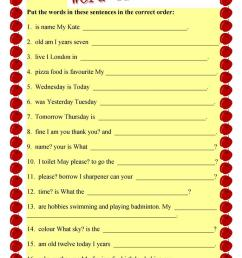 English ESL sentence structure worksheets - Most downloaded (45 Results) [ 1079 x 763 Pixel ]