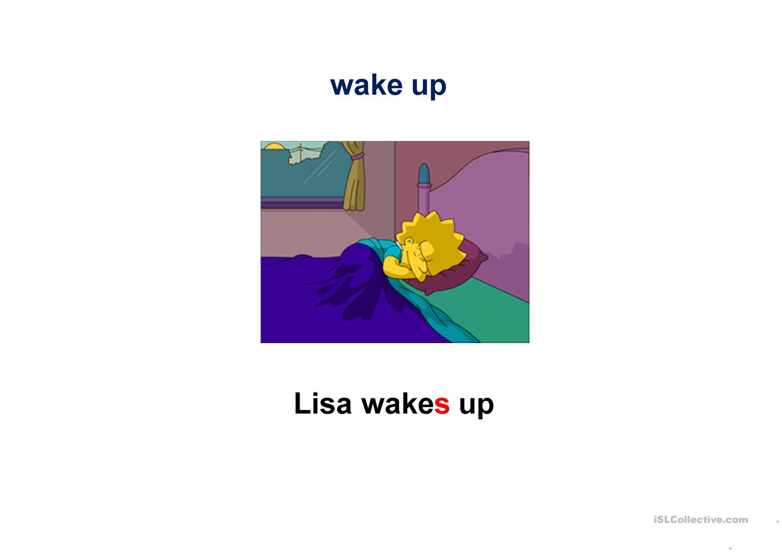 Simpsons Daily Routines Worksheet