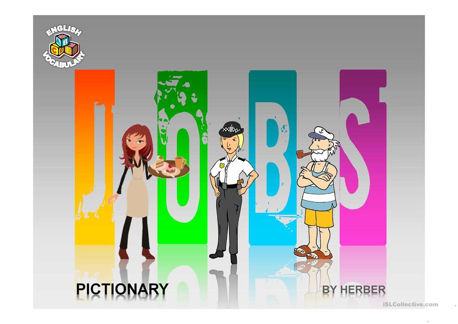 Jobs Pictionary Ppt Worksheet
