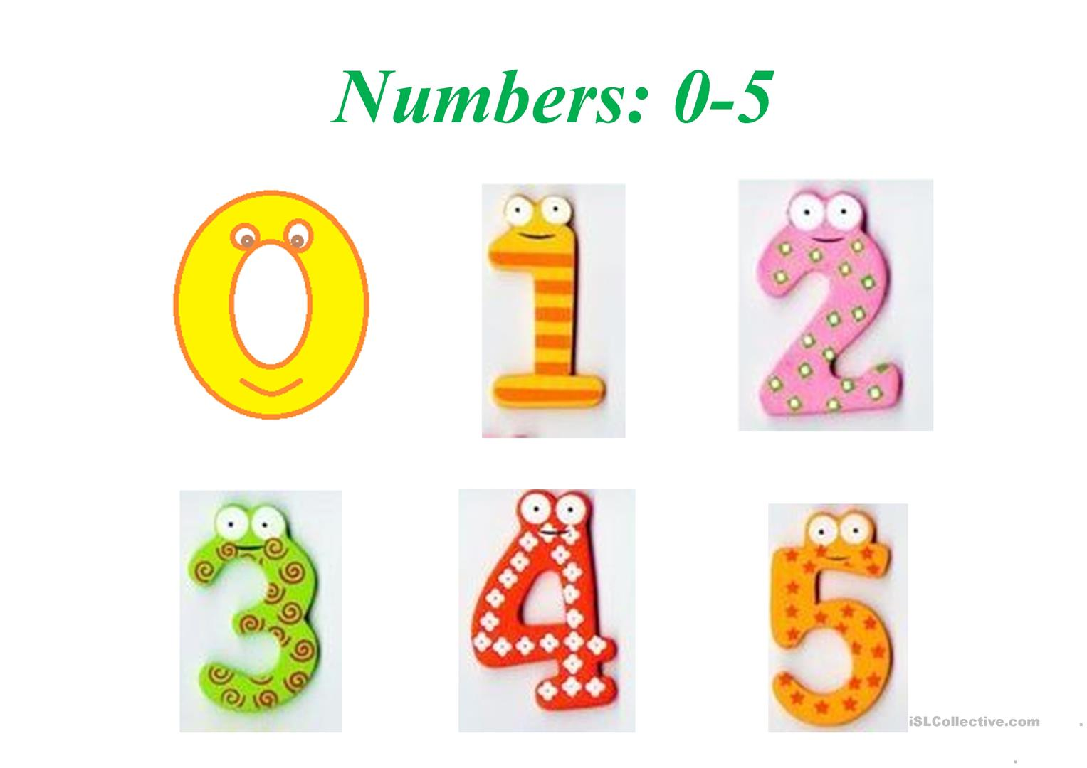 Numbers 0 10 Worksheet