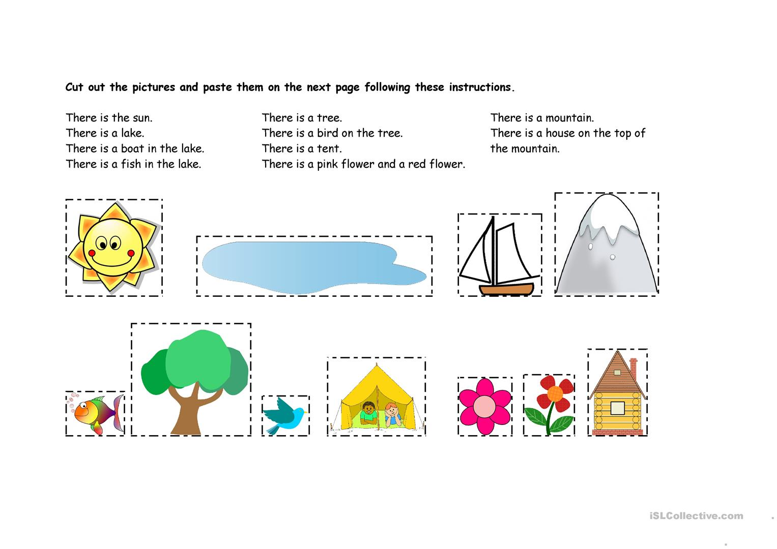 Outdoors Cut And Paste There Is A Worksheet