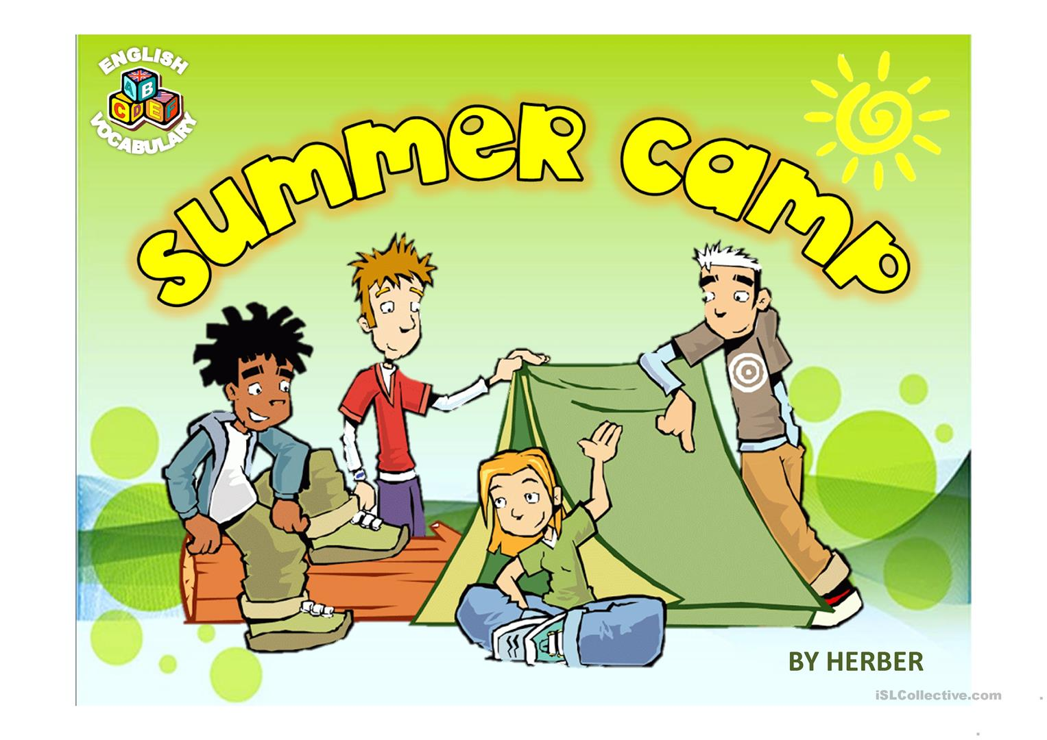 Summer Camp Ppt Worksheet
