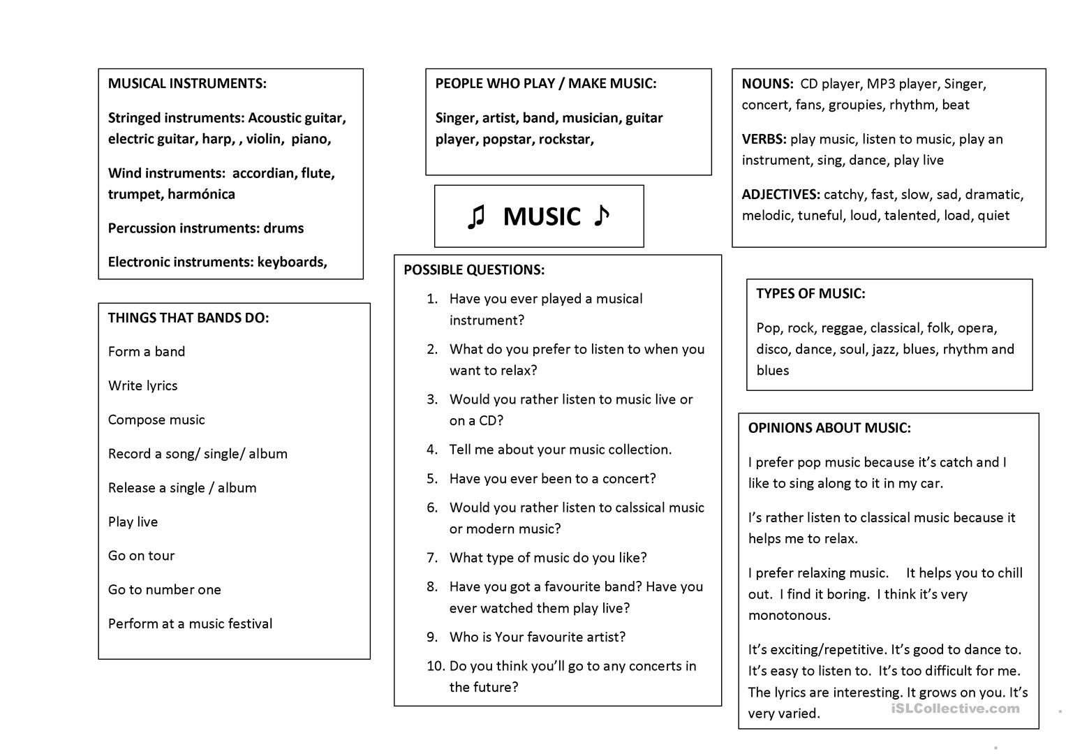 hight resolution of Trinity Grade5 vocab summary and conversation questions - English ESL  Worksheets for distance learning and physical classrooms