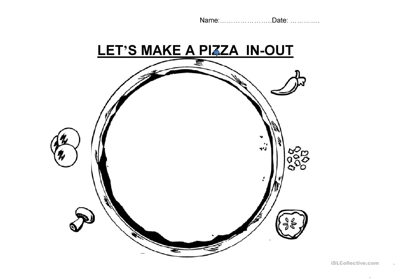 Let S Make A Pizza Worksheet