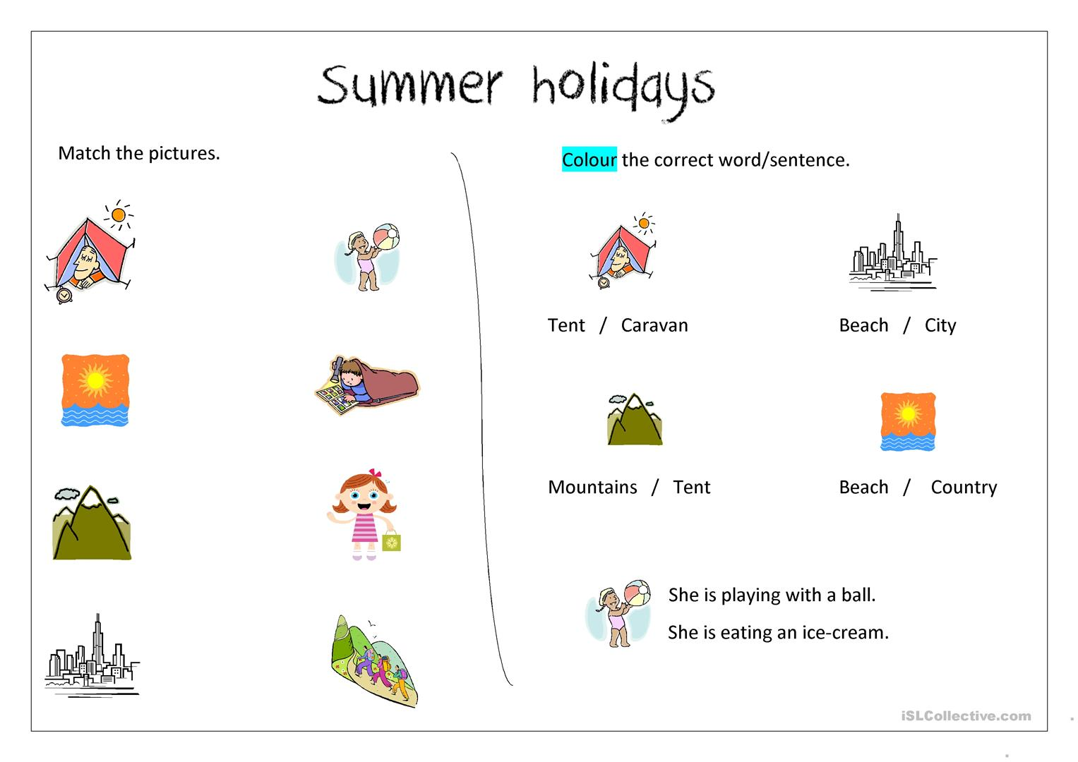 Islcollective English Summer Holidays