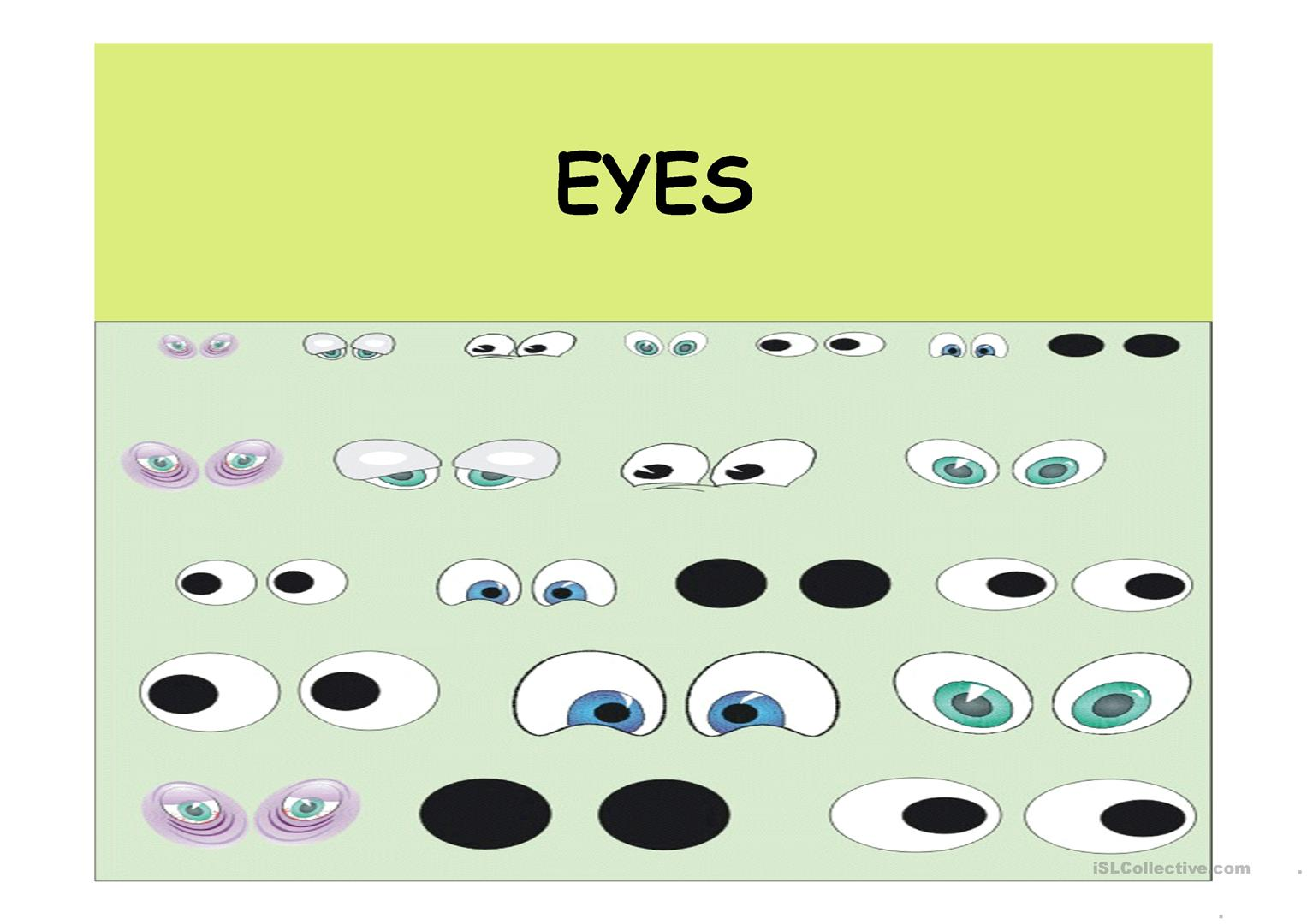 Hair And Eyes Worksheet