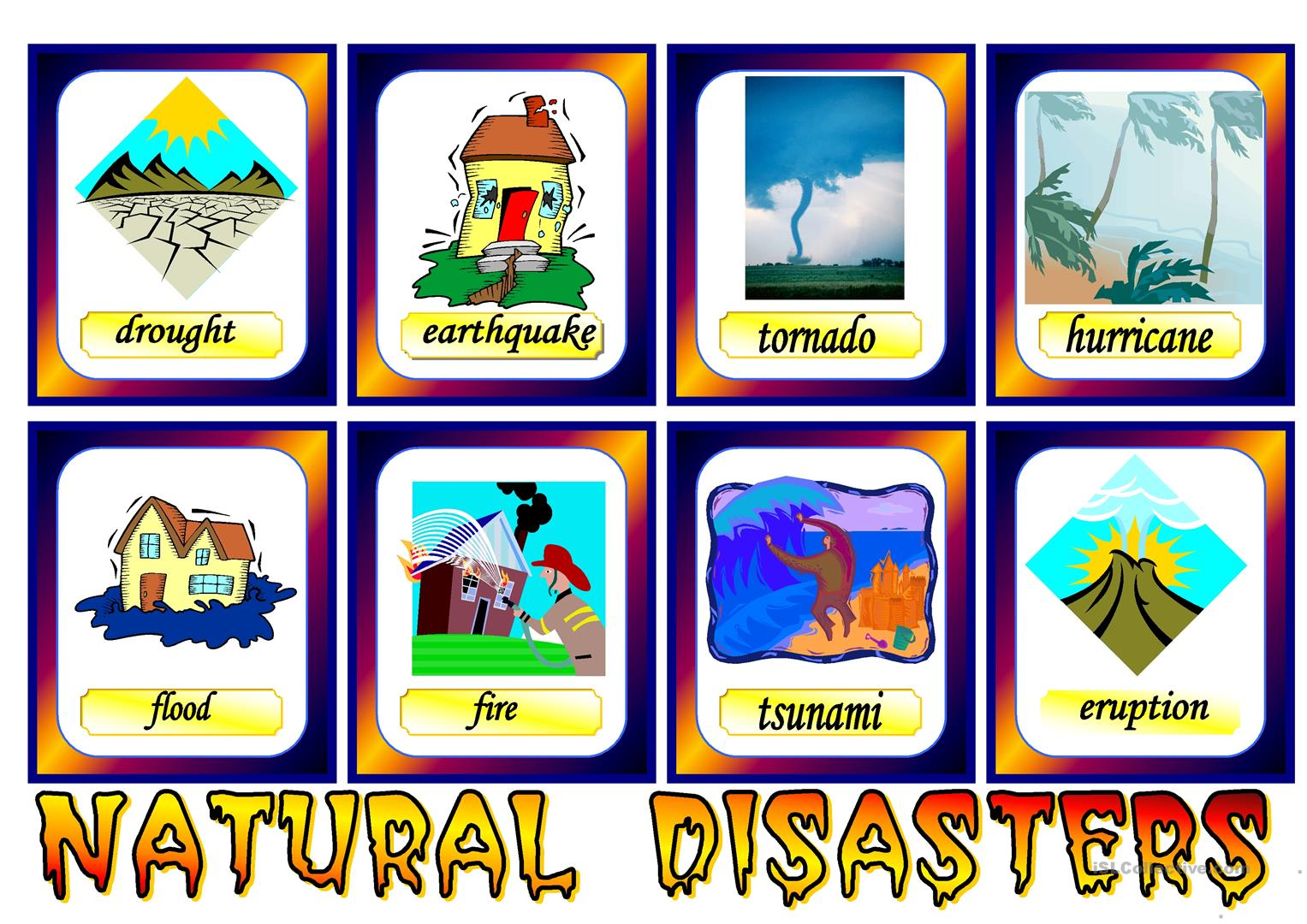 Natural Disasters Worksheet
