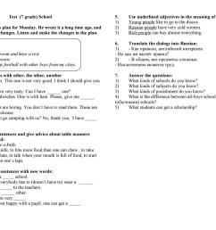 Test - 7th grade - Kaufman - English ESL Worksheets for distance learning  and physical classrooms [ 1080 x 1527 Pixel ]