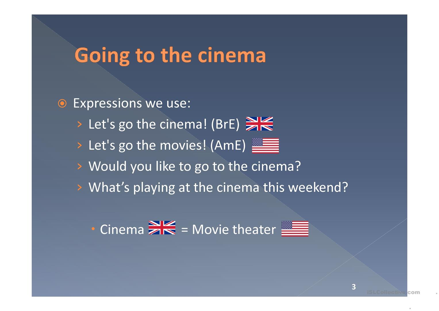 Vocabulary About Films Worksheet