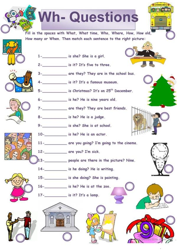 Whquestions worksheet Free ESL printable worksheets