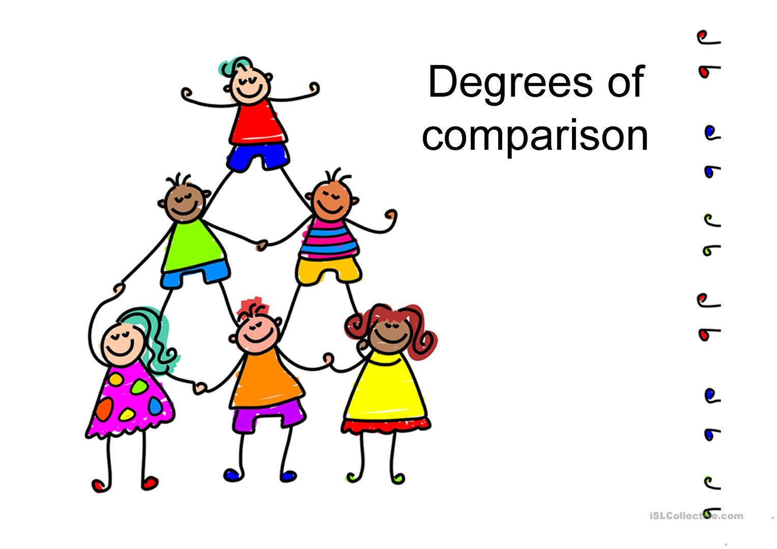 Degrees Of Comparison Worksheet