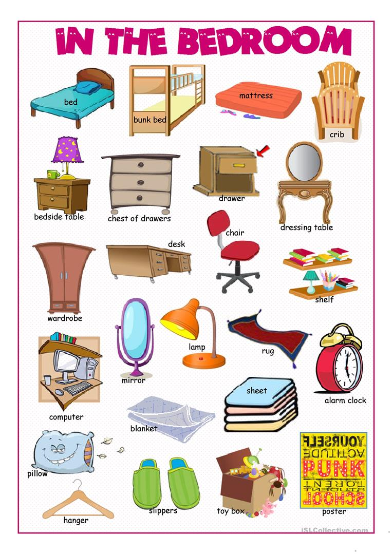In The Bedroom Picture Dictionary English Esl Worksheets For Distance Learning And Physical Classrooms