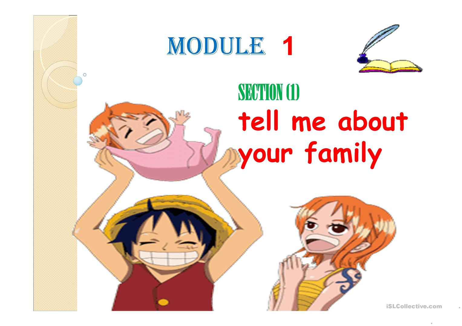 Tell Me About Your Family Worksheet