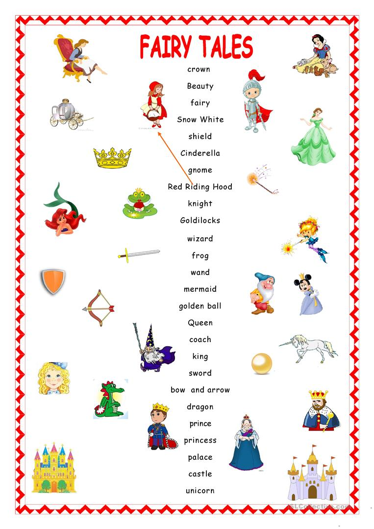medium resolution of Fairy Tales.Matching. - English ESL Worksheets for distance learning and  physical classrooms