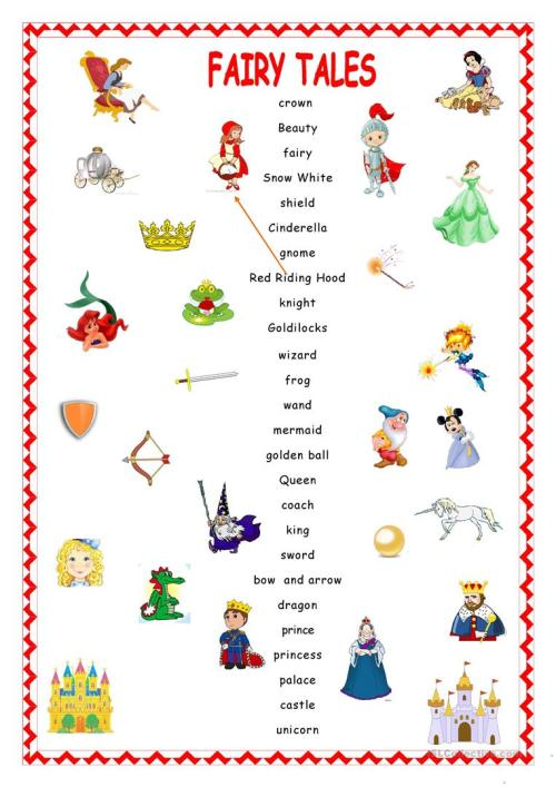 small resolution of Fairy Tales.Matching. - English ESL Worksheets for distance learning and  physical classrooms