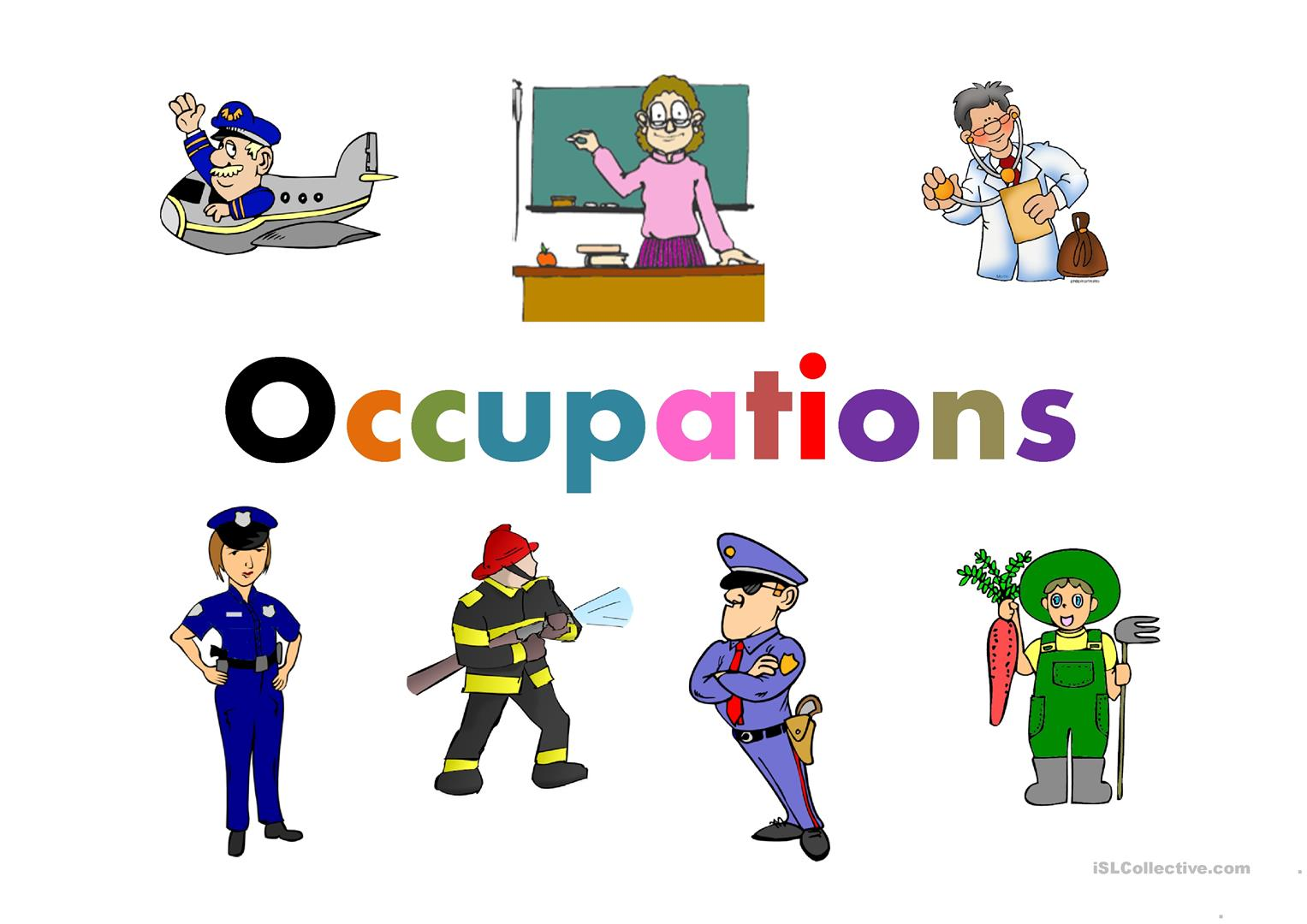 Occupations Worksheet Free
