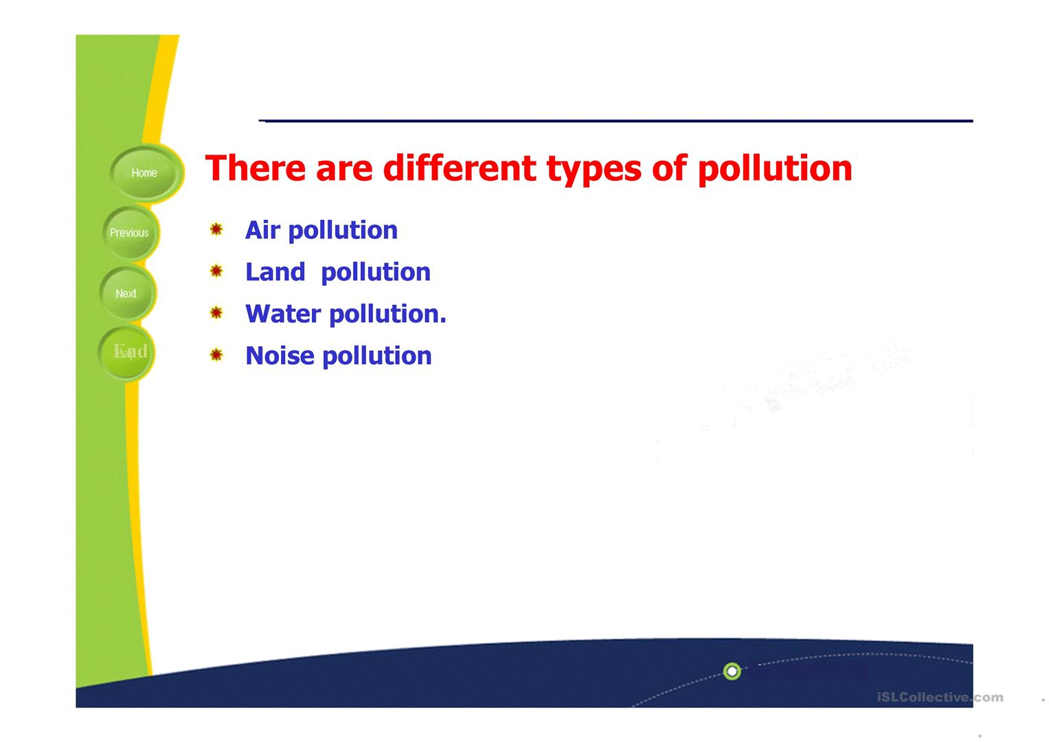 Pollution Causes And Effects Worksheet