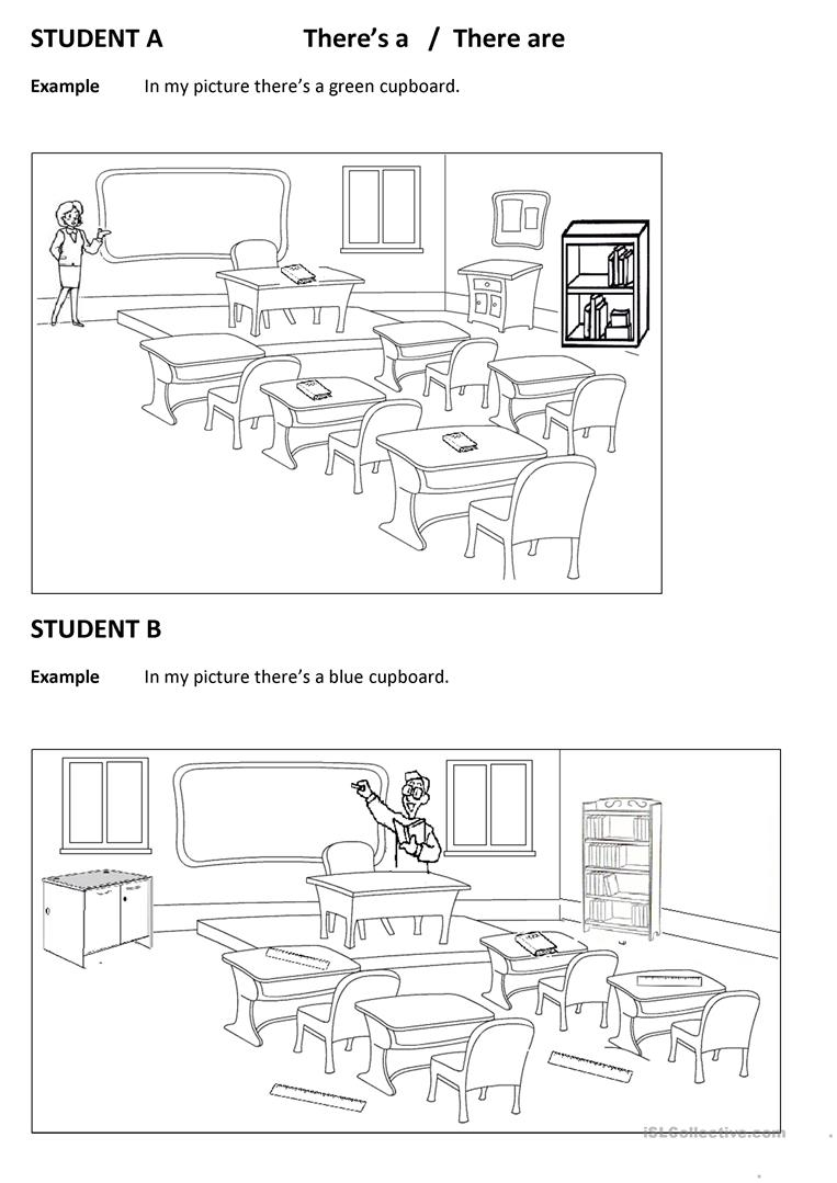 Spot the differences CLassroom (There is there are
