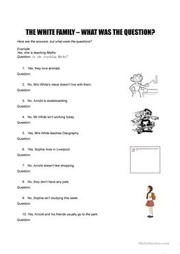 10 FREE ESL yes no questions worksheets