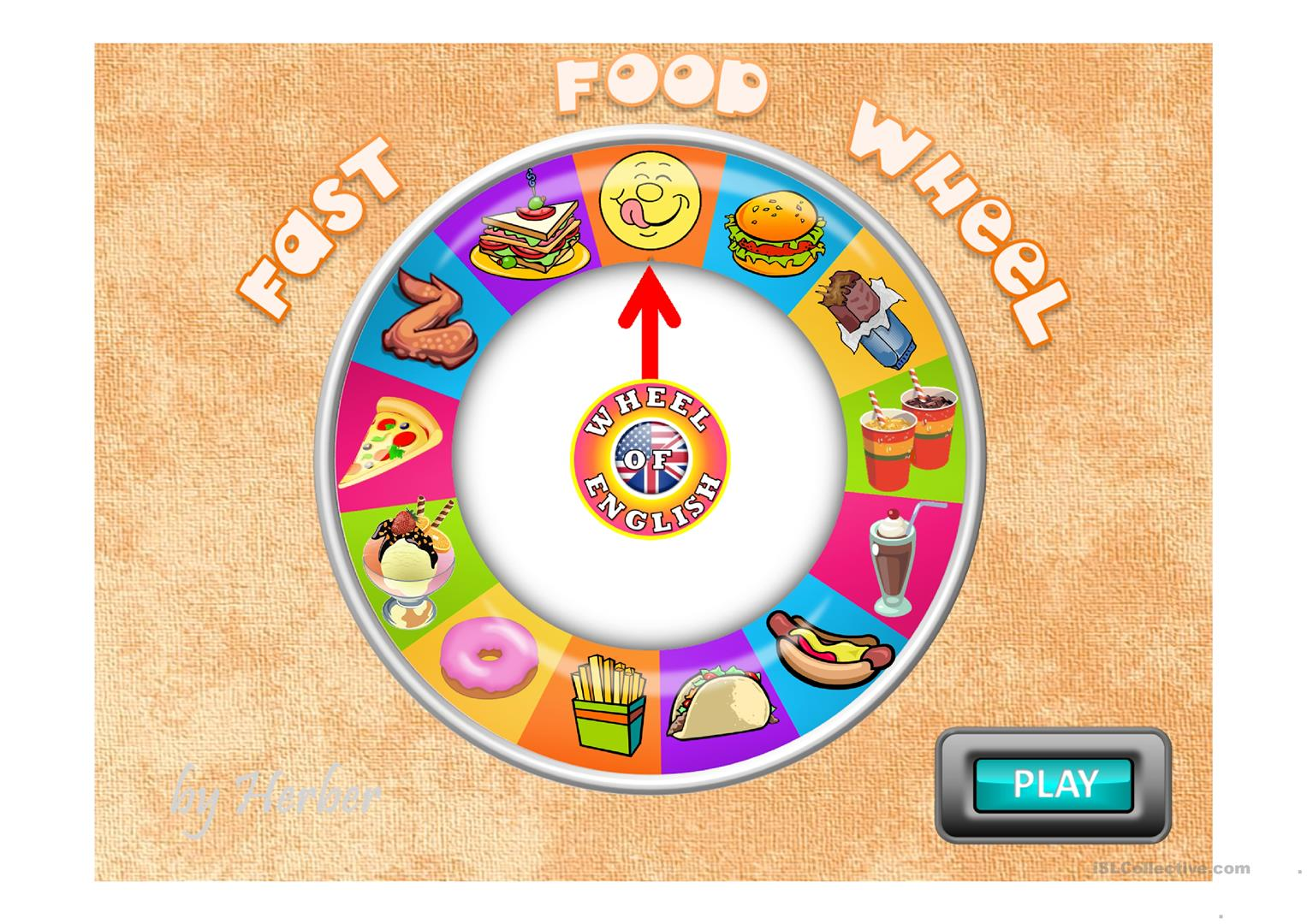 Fast Food Wheel Worksheet