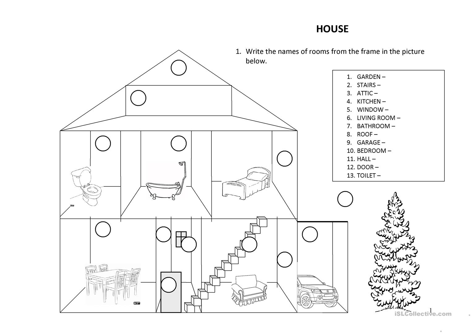 House There Is Are Preposition Of Place