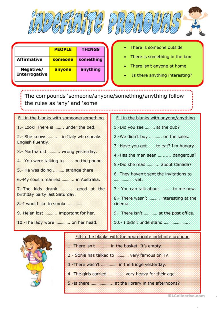 hight resolution of INDEFINITE PRONOUNS - English ESL Worksheets for distance learning and  physical classrooms