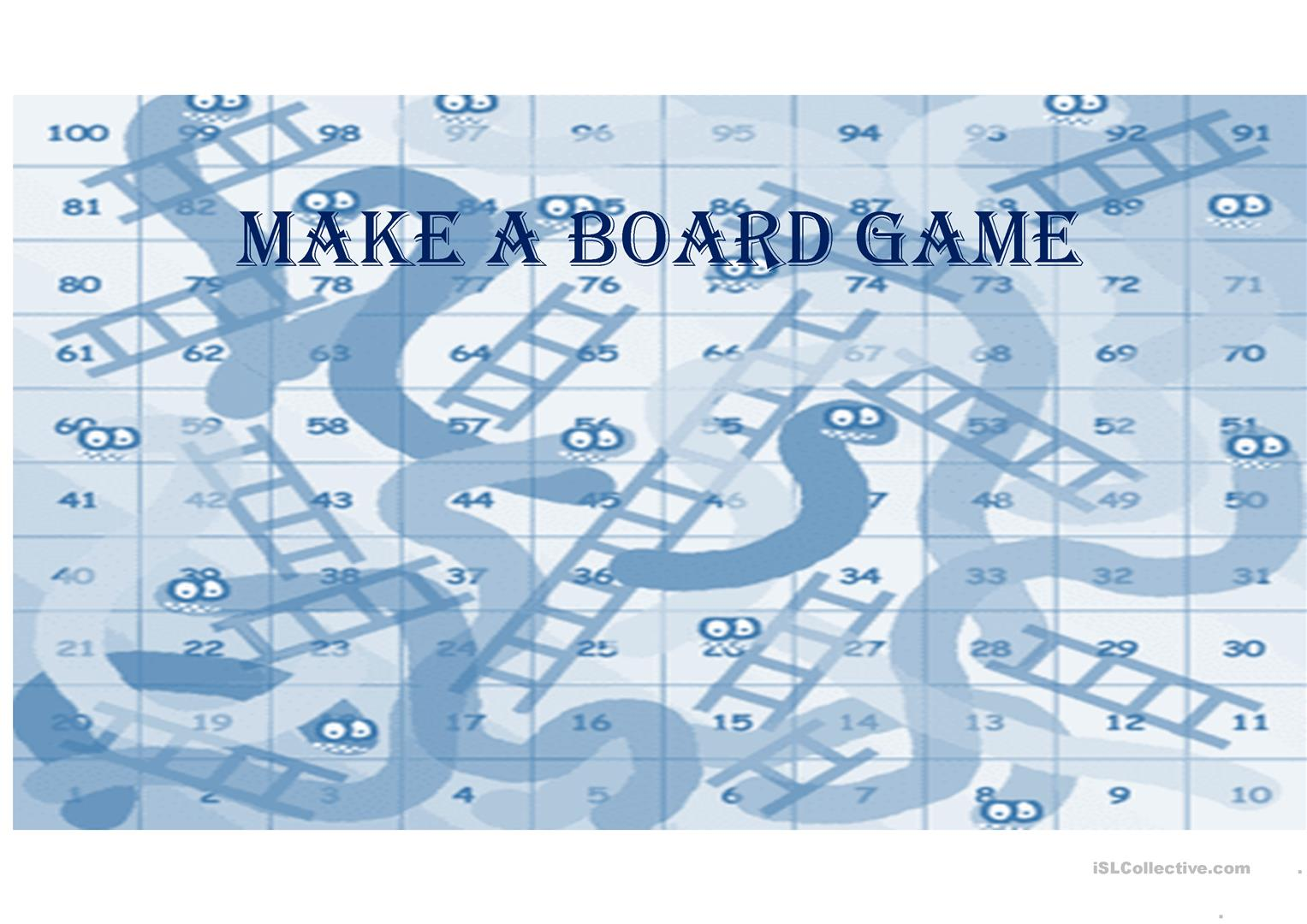 Snakes And Ladders Game Worksheet