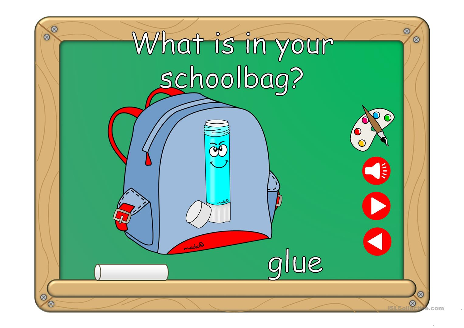 What S In Your Schoolbag