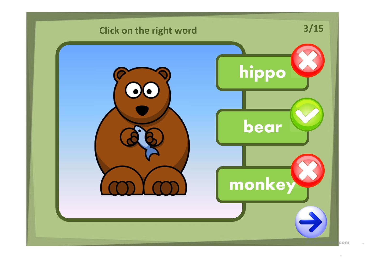 Wild Animals Quiz Worksheet