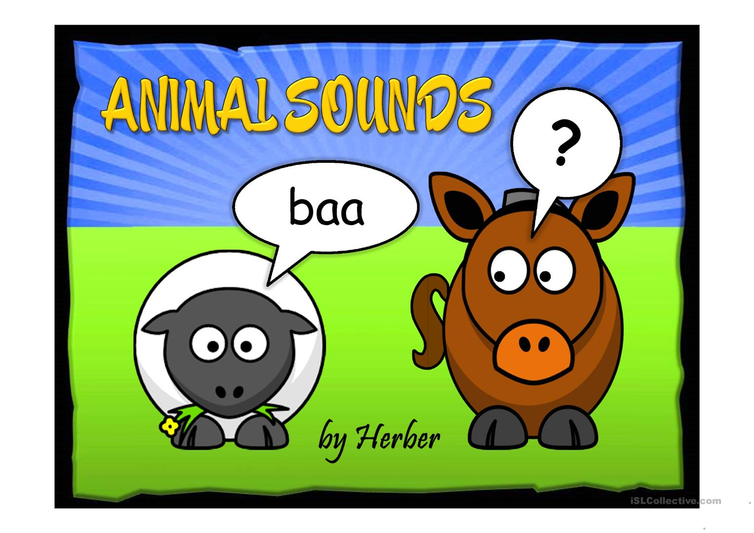 Worksheet Animal Sounds