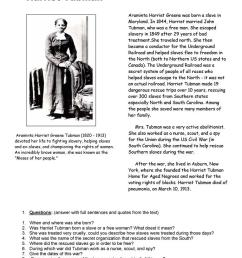 Harriet Tubman - English ESL Worksheets for distance learning and physical  classrooms [ 1079 x 763 Pixel ]
