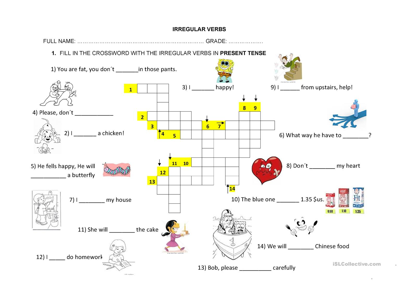 Irregular Verbs Practice Worksheet
