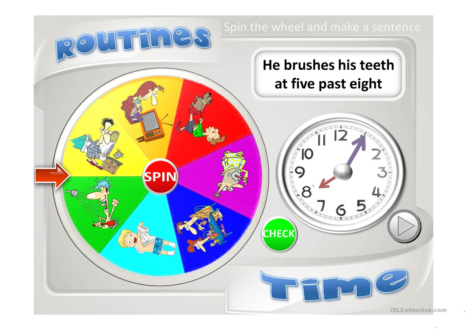 Routines Amp Time Worksheet