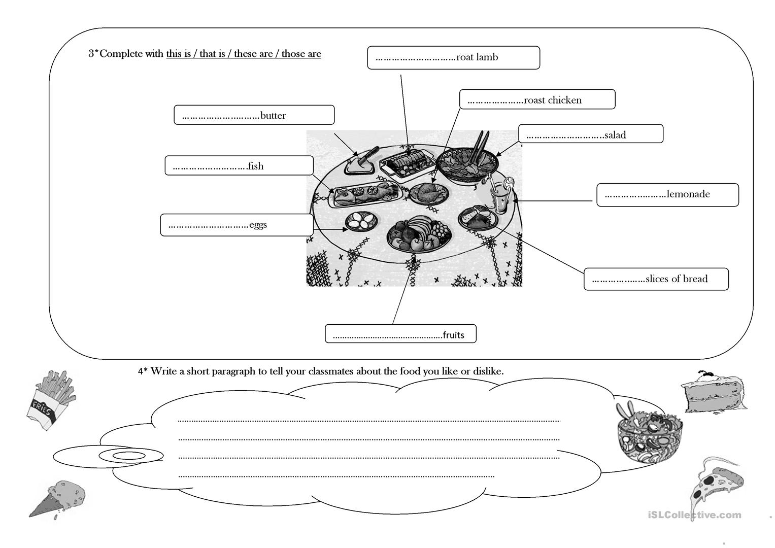 Time For Lunch Worksheet