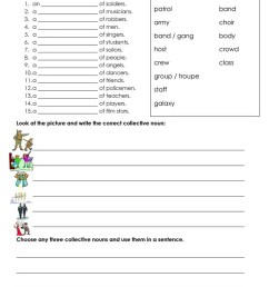 Collective Nouns - People - English ESL Worksheets for distance learning  and physical classrooms [ 1079 x 763 Pixel ]