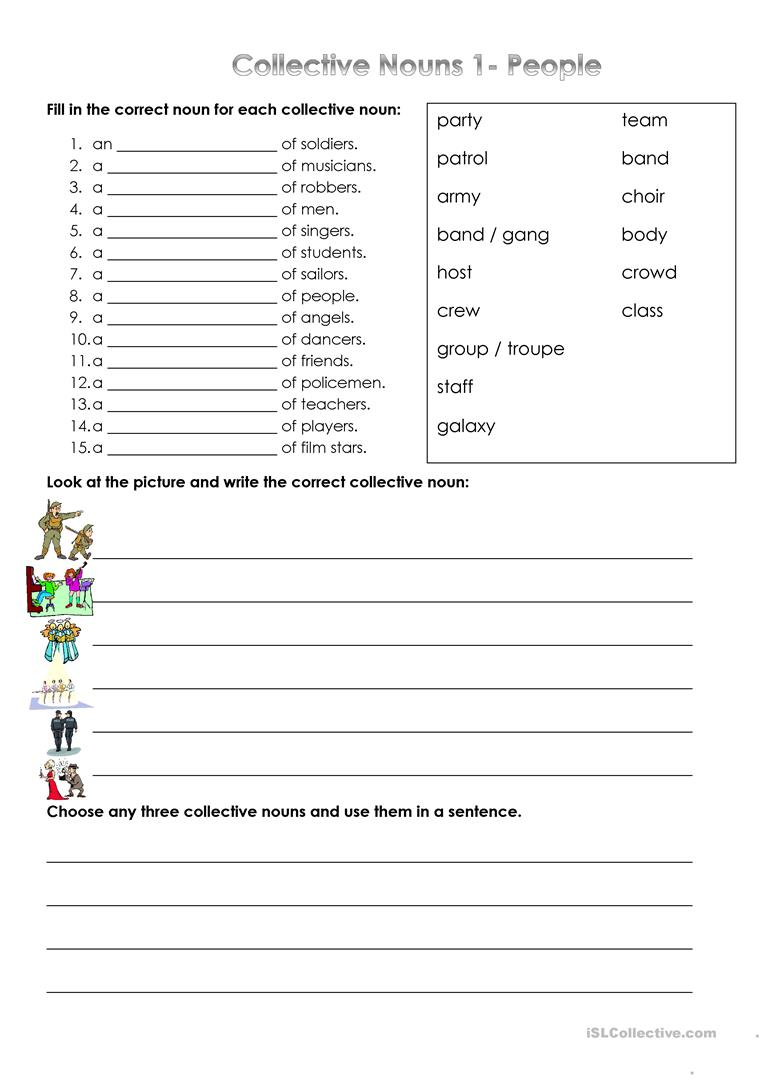 medium resolution of Collective Nouns - People - English ESL Worksheets for distance learning  and physical classrooms
