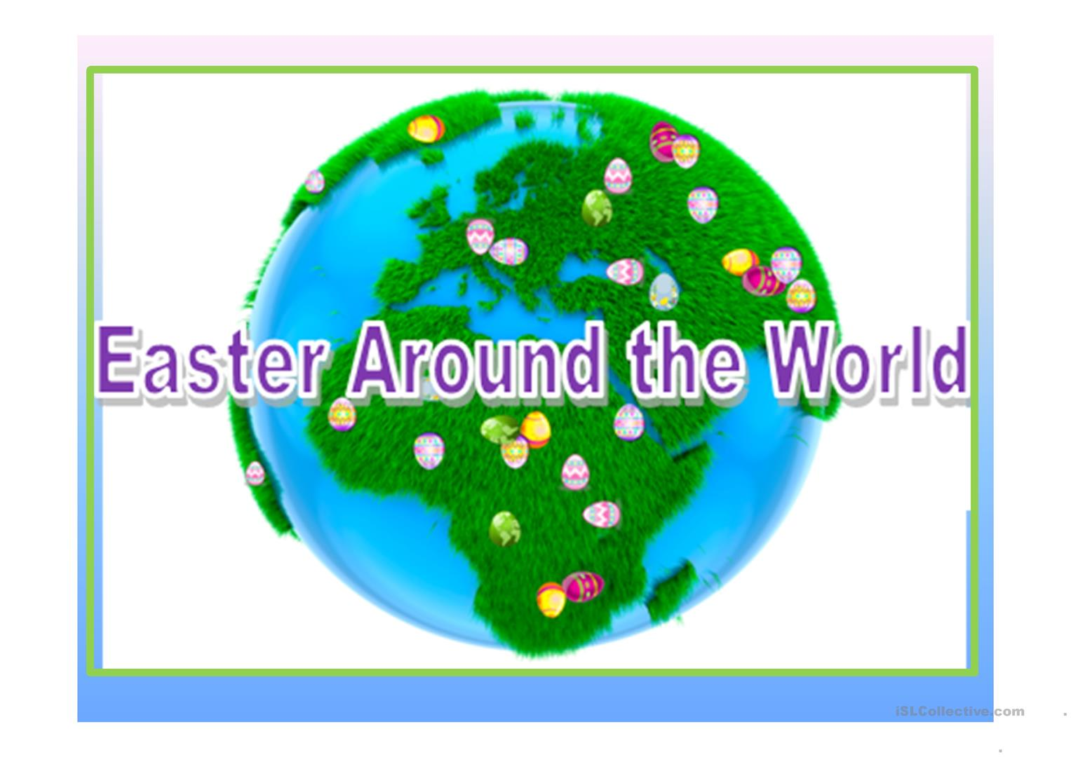 Easter Around The World Worksheet