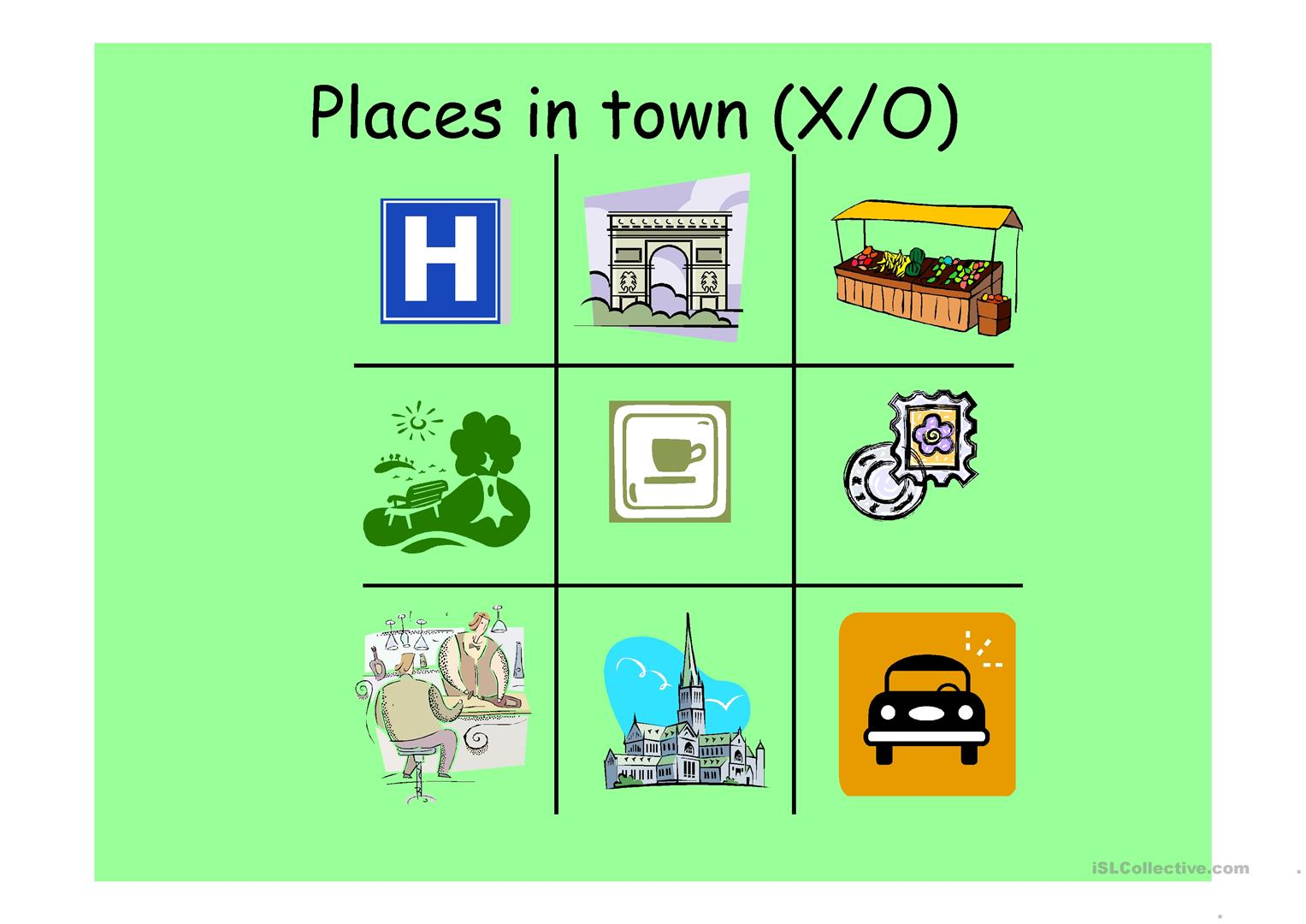 Places In Town Worksheet