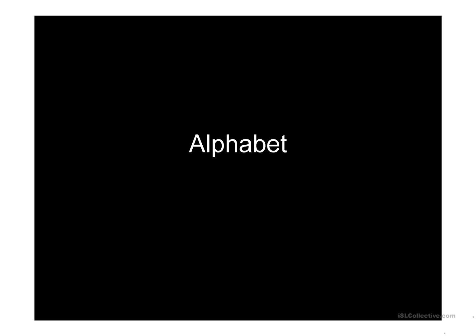 Alphabet For Adults And Teens