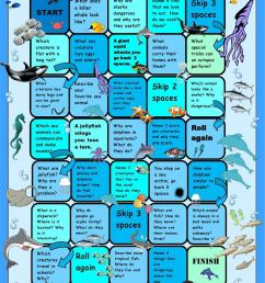 Ocean Animals Boardgame - English ESL Worksheets for distance learning and  physical classrooms [ 1079 x 763 Pixel ]