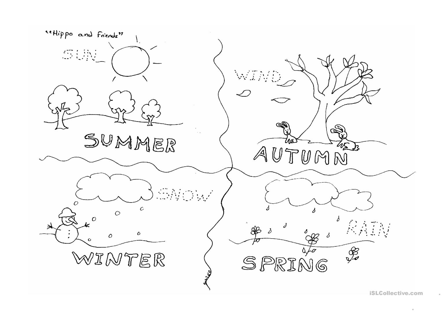 Seasons Kindergarten Worksheet